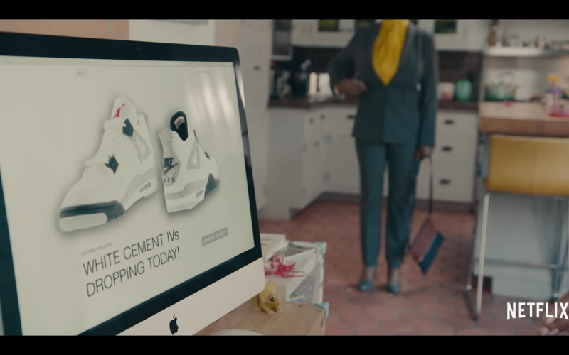 Air Jordan 4 Retro 'White Cement Grey' Sneakers and Apple iMac in Sneakerheads Season 1 (2020)