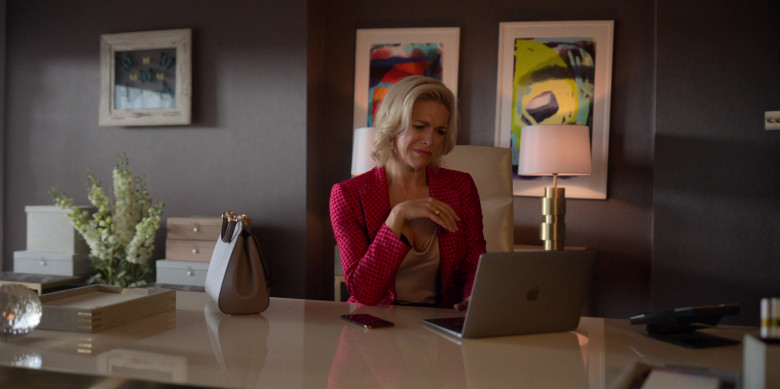 Apple MacBook Air Laptop Used by Hannah Waddingham as Rebecca Welton in Ted Lasso S01E06