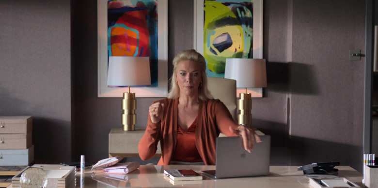 Apple MacBook Laptop Used by Hannah Waddingham as Rebecca Welton in Ted Lasso S01E07