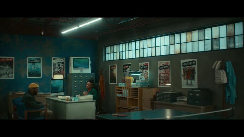 Apple iMac Computer and Box of Sasheer Zamata as Ayana in Woke S01E04 (1)
