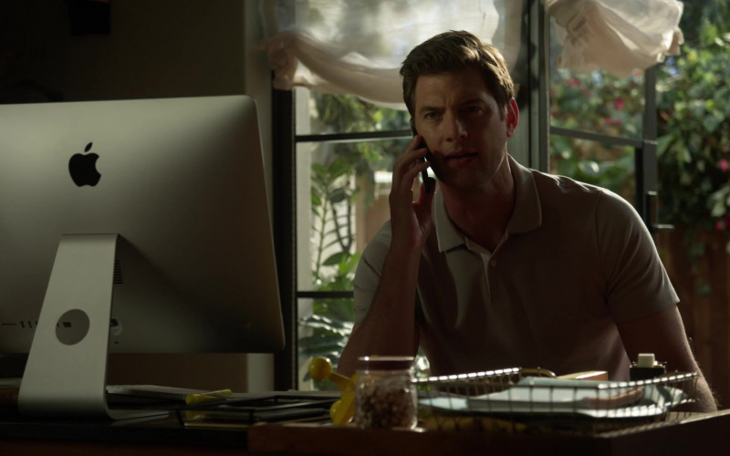 Apple iMac Computer of Ryan McPartlin as Dr. Patrick McKenna in L.A.'s Finest S02E12 (2)