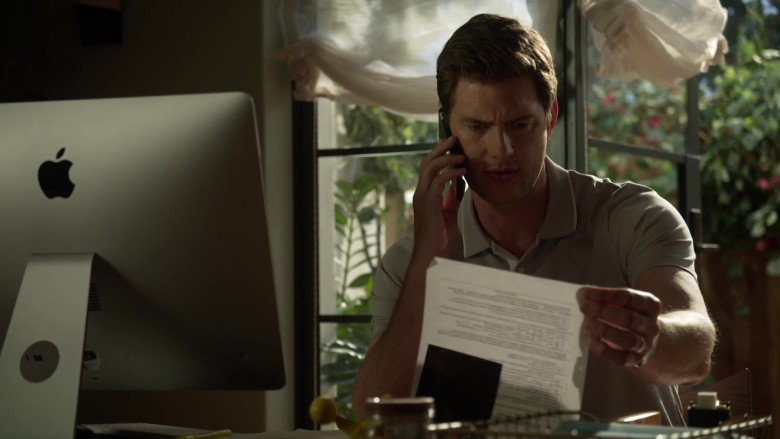 Apple iMac Computer of Ryan McPartlin as Dr. Patrick McKenna in L.A.'s Finest S02E12 (3)