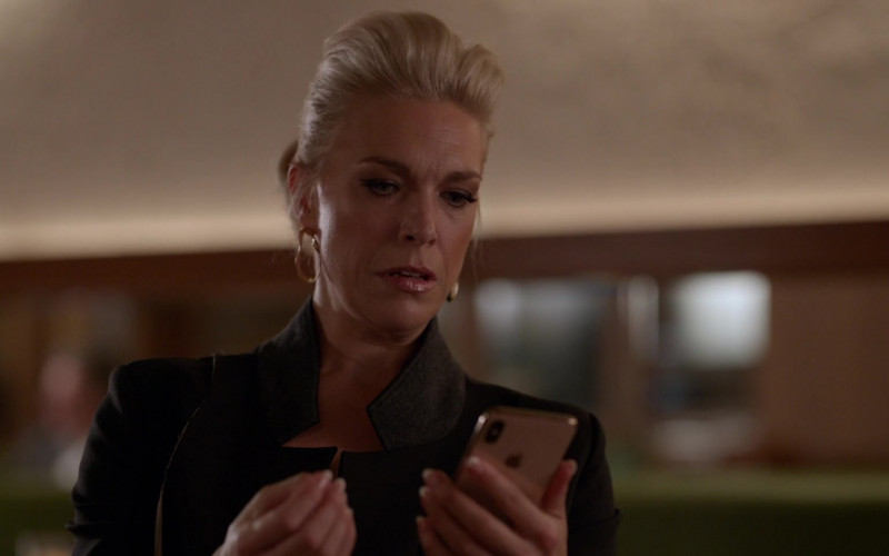 Apple iPhone Smartphone Used by Hannah Waddingham as Rebecca Welton in Ted Lasso S01E07