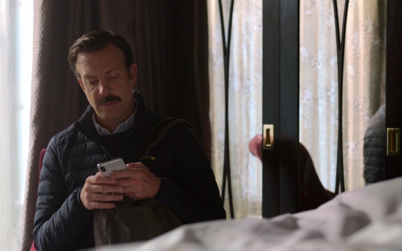 Apple iPhone Smartphone Used by Jason Sudeikis in Ted Lasso S01E08