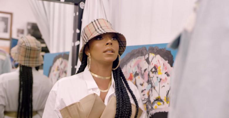 Ashanti Wears Burberry Bucket Hat in Fall Slowly (Evolution) Music Video