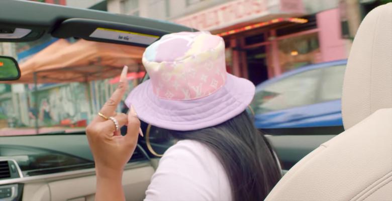 Ashanti Wears LV Hat (2)