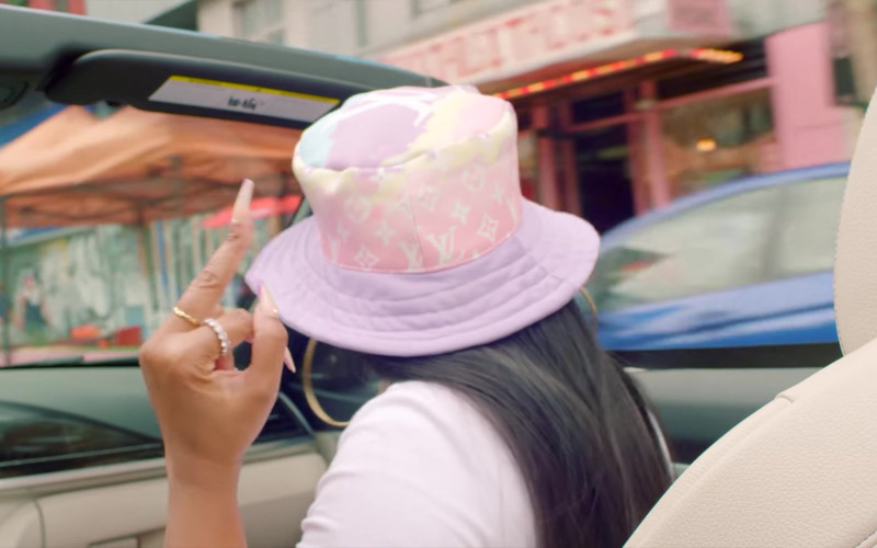 Ashanti Wears LV Hat (2)