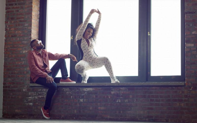 Ashanti Wears Nike x Marine Serre 2-In-1 Jersey Jumpsuit Outfit