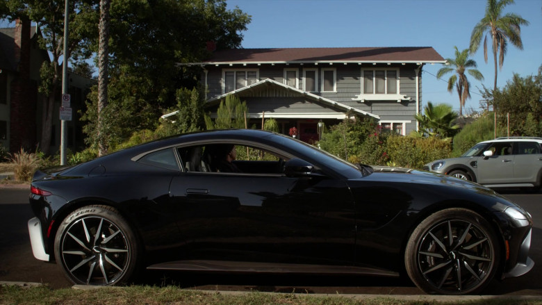 Aston Martin Vantage Black Car in L.A.'s Finest S02E06