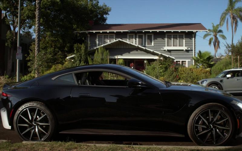 Aston Martin Vantage Black Car in L.A.'s Finest S02E06