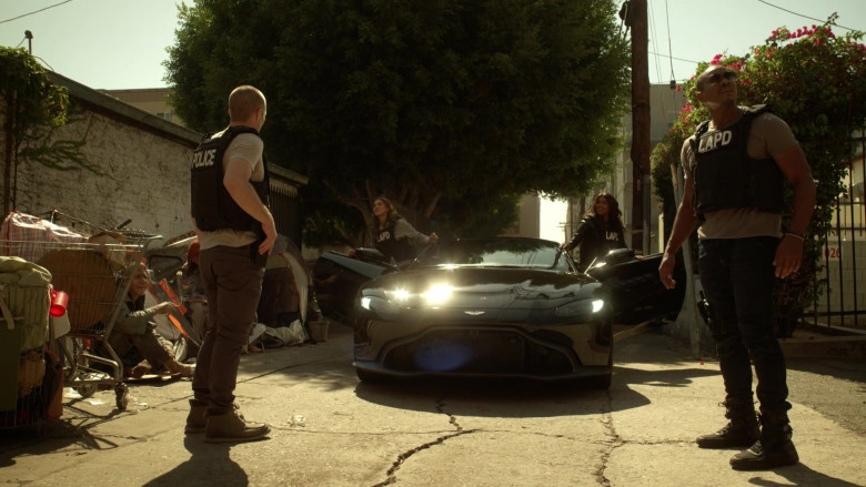Aston Martin Vantage Black Car of Gabrielle Union as Syd in L.A.'s Finest S02E02