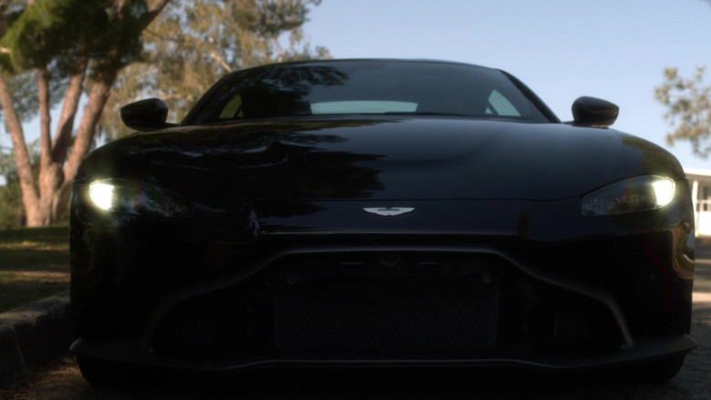 Aston Martin Vantage Black Roadster Car in L.A.'s Finest S02E12 (2)