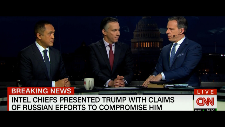 CNN Television Channel in The Comey Rule Night Two (1)