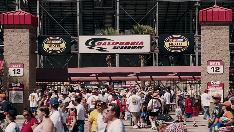 California Speedway and Nascar Nextel Cup Series in Herbie Fully Loaded