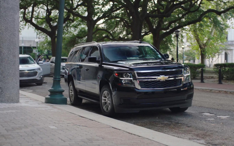 Chevrolet Suburban Black SUV in Filthy Rich S01E01 (1)