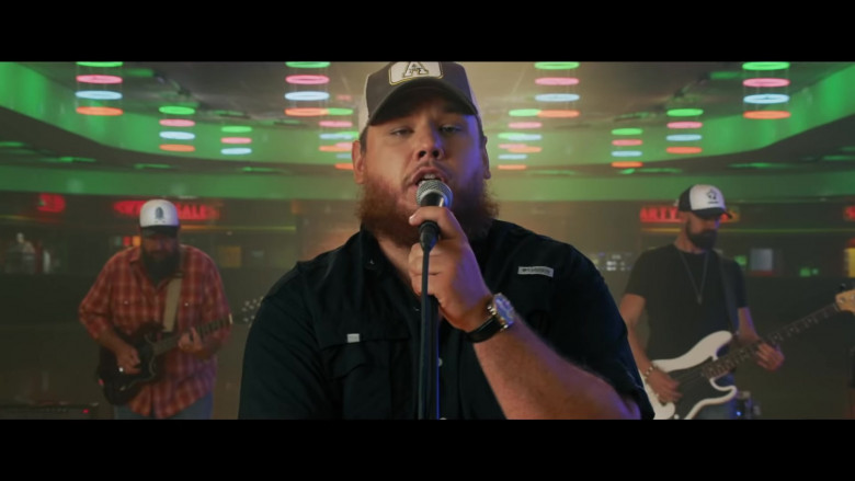 Columbia Shirt Outfit of Luke Combs in Lovin' On You (3)