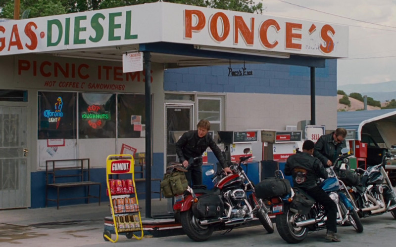 Corona Light Sign and Gumout Products in Wild Hogs (1)