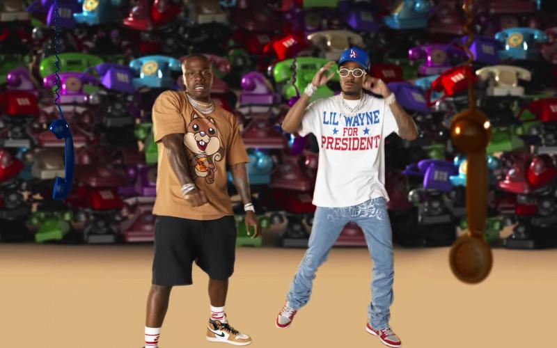 DaBaby Wears Air Jordan 1 Nike High Top Sneakers in Pick Up Music Video (1)