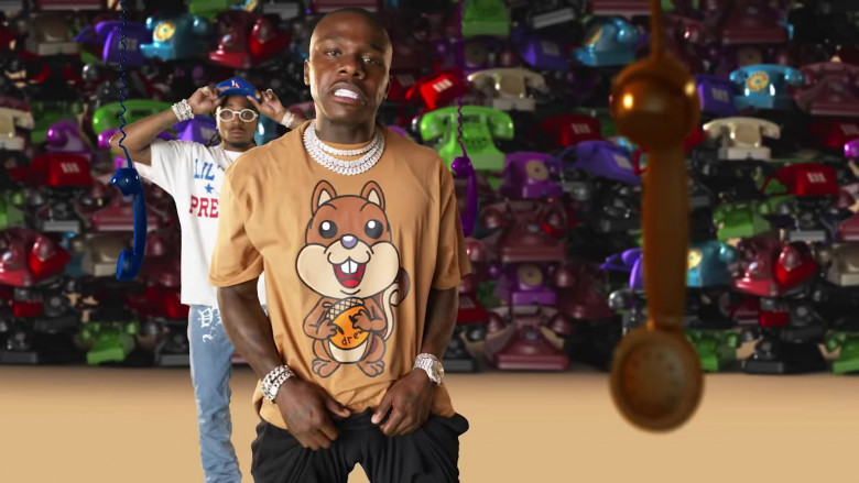 DaBaby Wears Drew House T-Shirt Outfit in Pick Up Music Video