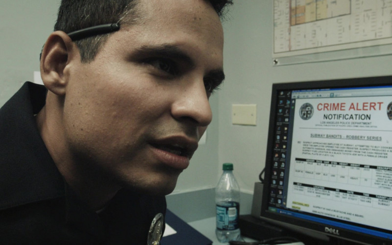Dell Monitor Used by Michael Peña as Miguel 'Mike' Zavala in End of Watch