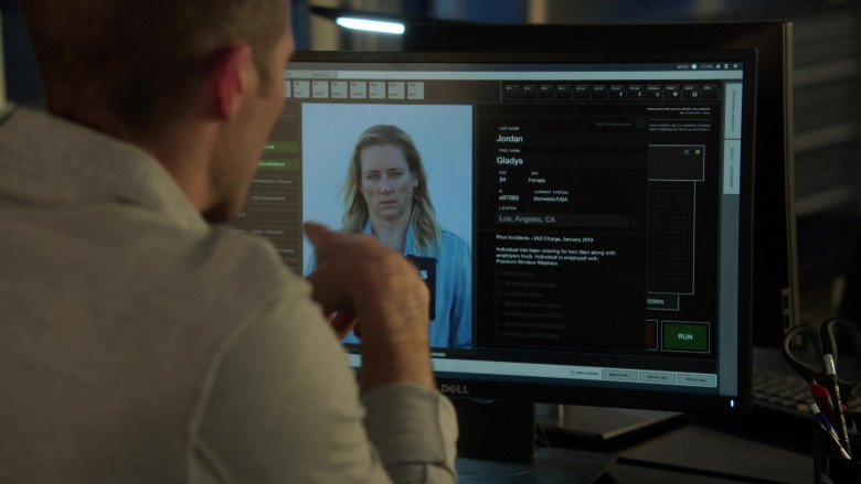 Dell Monitor Used by Zach Gilford as Ben Walker in L.A.'s Finest S02E11