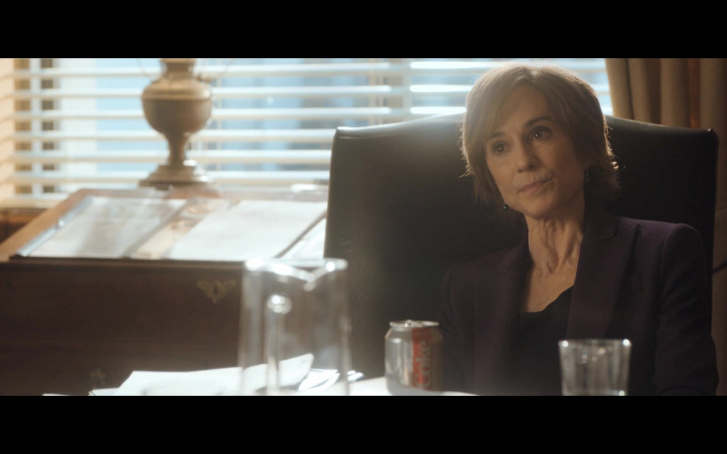 Diet Coke Drink of Holly Hunter as Sally Yates in The Comey Rule Night One (2020)