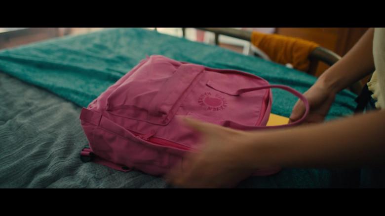 Fjallraven Kanken Pink Backpack of Haley Lu Richardson as Veronica in Unpregnant Movie (1)