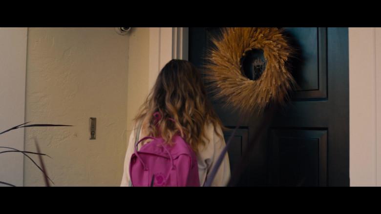 Fjallraven Kanken Pink Backpack of Haley Lu Richardson as Veronica in Unpregnant Movie (2)