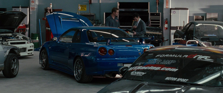 Formula Drift, AIT Racing and EXEDY Stickers on the Car in Fast & Furious