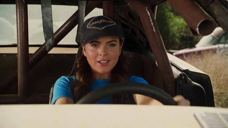 Goodyear Cap of Lindsay Lohan as Margaret 'Maggie' Peyton in Herbie Fully Loaded (2)