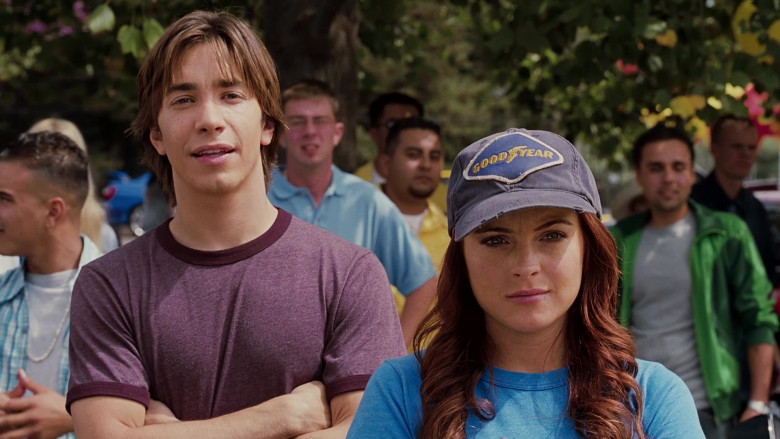Goodyear Cap of Lindsay Lohan as Margaret 'Maggie' Peyton in Herbie Fully Loaded (4)