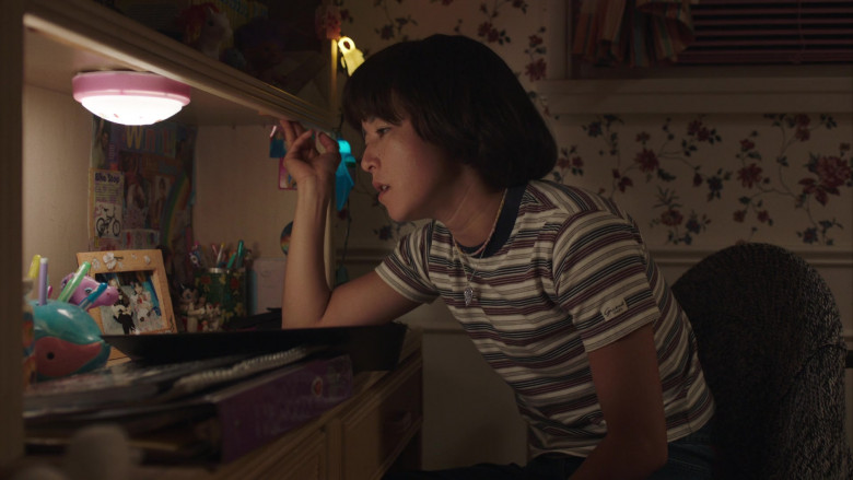 Guess Jeans Striped T-Shirt Outfit of Maya Erskine in PEN15 S02E06 Hulu TV Series
