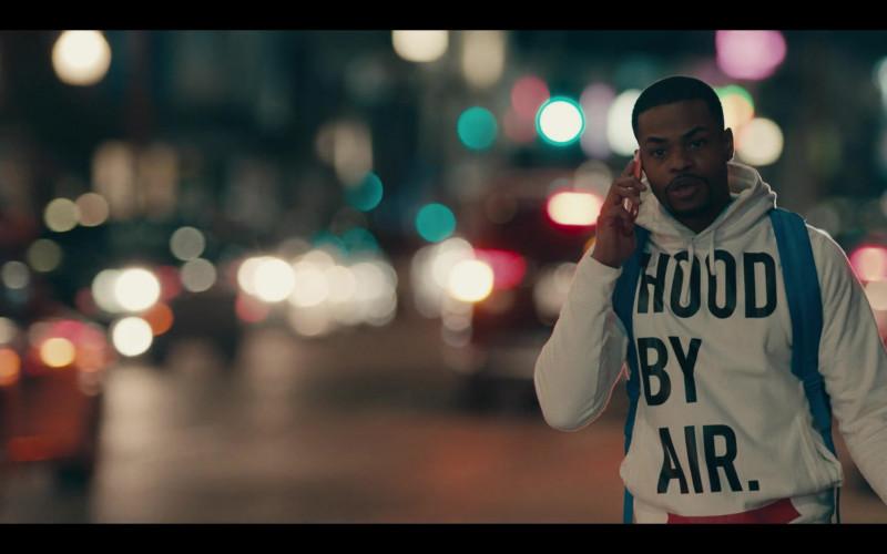 Hood By Air (HBA) Streetwear White Hoodie Andrew Bachelor as Bobby in Sneakerheads S01E04 (5)