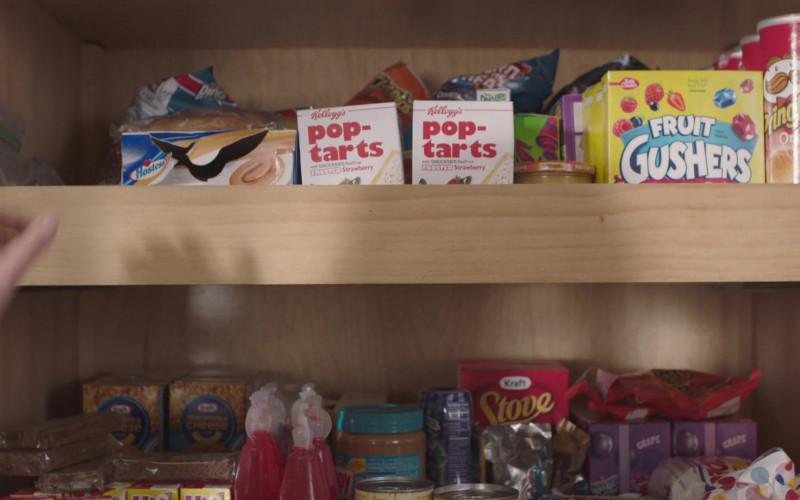 Hostess, Kellogg's Pop-Tarts, Betty Crocker Fruit Gushers, Pringles Chips, Kra