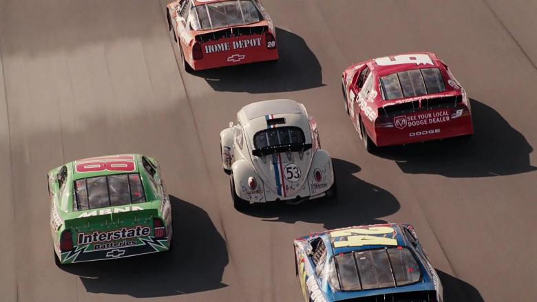 Interstate Batteries, Chevrolet, Home Depot, Dodge in Herbie Fully Loaded