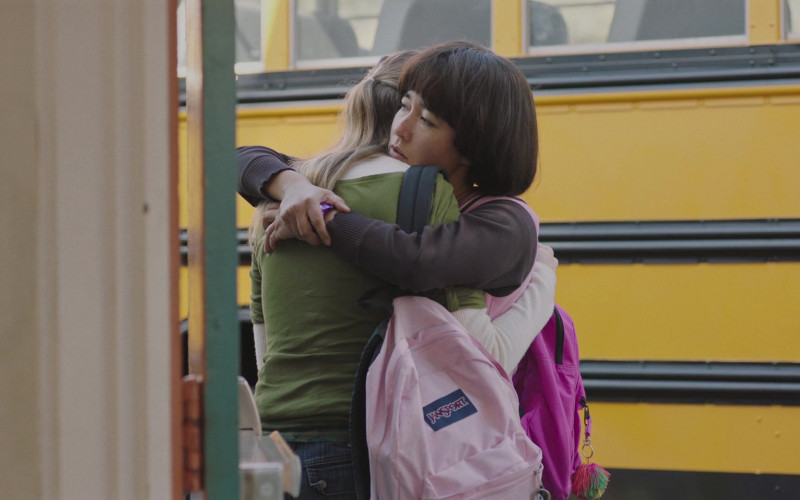 JanSport Pink Backpack of Anna Konkle in PEN15 S02E02