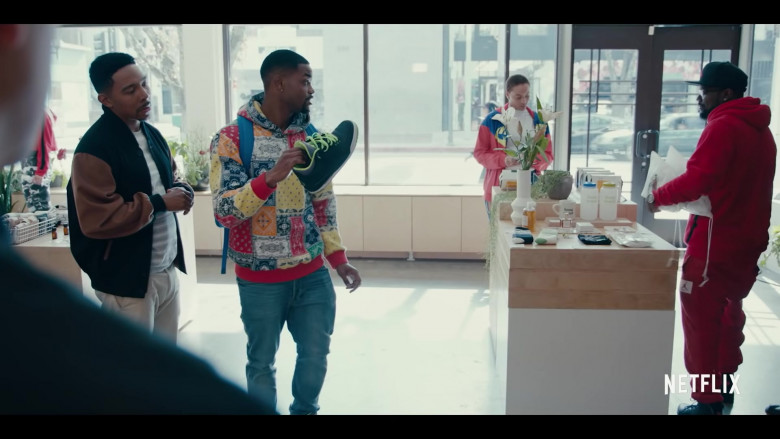 Jordan Shoe Held by King Bach (Andrew Bachelor) as Bobby in Sneakerheads Season 1 (2)