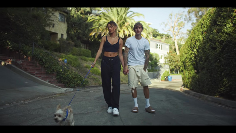 Justin Bieber Wears FOG Essentials Shorts Outfit in Popstar Music Video