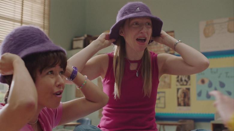 Kangol Furgora Purple Bucket Hat Worn by Anna Konkle in PEN15 S02E04 TV Show (1)
