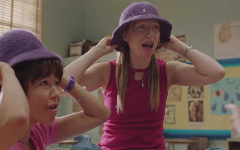 Kangol Furgora Purple Bucket Hat Worn by Anna Konkle in PEN15 S02E04 TV Show (1)