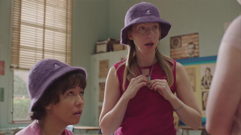 Kangol Furgora Purple Bucket Hat Worn by Anna Konkle in PEN15 S02E04 TV Show (2)