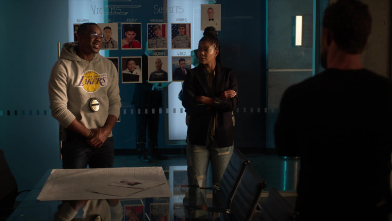 LA Lakers Hoodie of Duane Martin as Ben Baines in L.A.'s Finest S02E13 (1)
