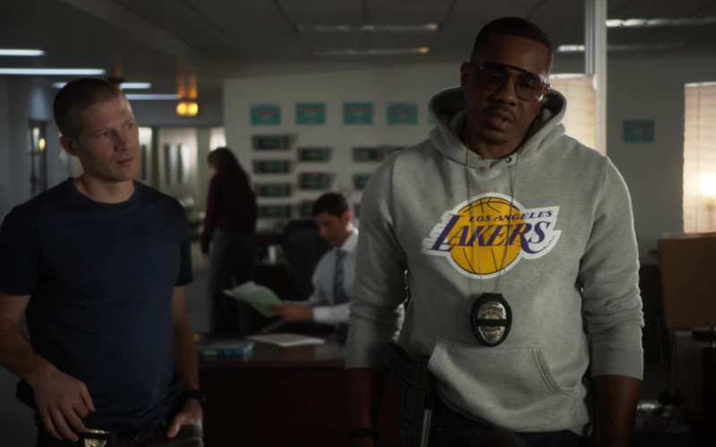 LA Lakers Hoodie of Duane Martin as Ben Baines in L.A.'s Finest S02E13 (3)
