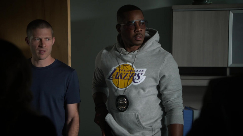 LA Lakers Hoodie of Duane Martin as Ben Baines in L.A.'s Finest S02E13 (4)