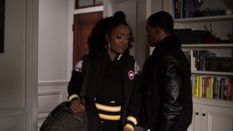 LaToya Tonodeo as Diana Tejada Wears Canada Goose Women's Vest Outfit in Power Book 2 Ghost TV Show (1)