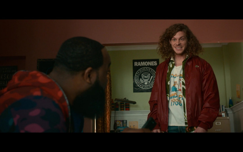 Lacoste Jacket Outfit of Blake Anderson as Gunther in Woke S01E03 (1)
