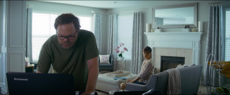 Lenovo Notebook of Actor Rainn Wilson as Michael Stearns in Utopia S01E07 TV Series