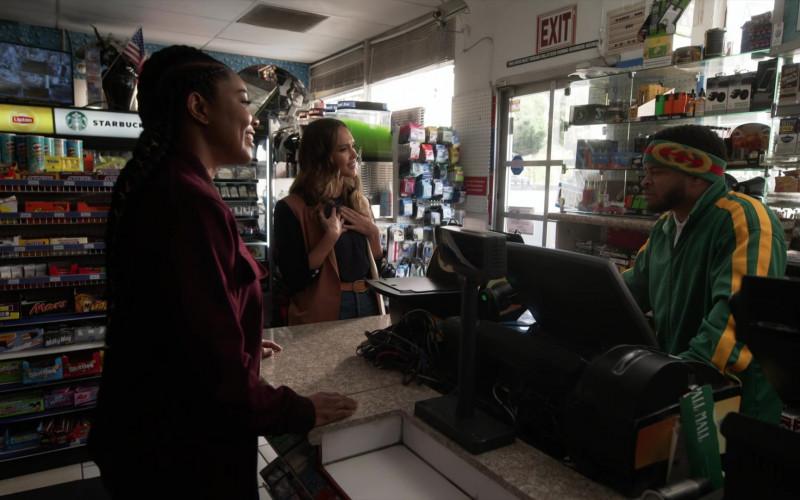 Lipton, Starbucks, Snickers, Mars, Skittles, Milky Way in L.A.'s Finest S02E07