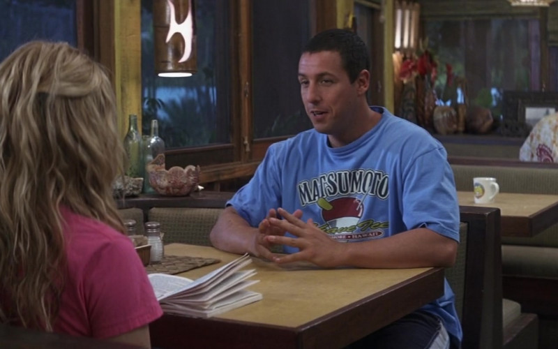 Matsumoto Shave Ice T-Shirt of Adam Sandler as Henry Roth in 50 First Dates Movie (1)