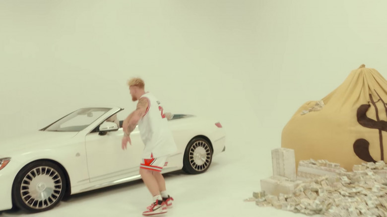 """Mercedes-Maybach S 650 Cabriolet White Car in """"23"""" by Jake Paul Starring Logan Paul (1)"""